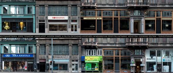 Egységes arculatot kaphatnak a budapesti üres kirakatok