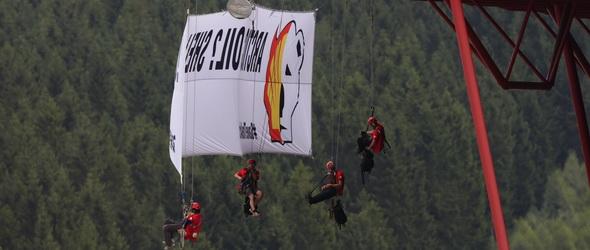 Trollkodott a Greenpeace a Belga Nagydíjon