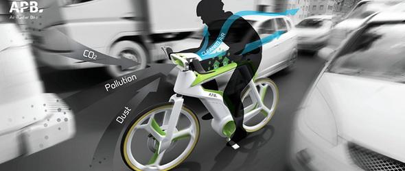 Légtisztító kerékpár, oxigént is termel!