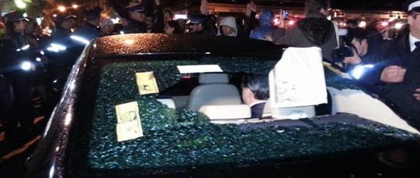 Megtámadtak egy minisztert a verespatak ellen tüntetők