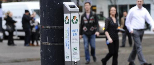 Vancouverben nem a földre, hanem újrahasznosításra kerülnek a cigicsikkek
