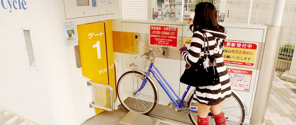 Sci-fibe illő garázsok nyelik el a bicikliket Japánban
