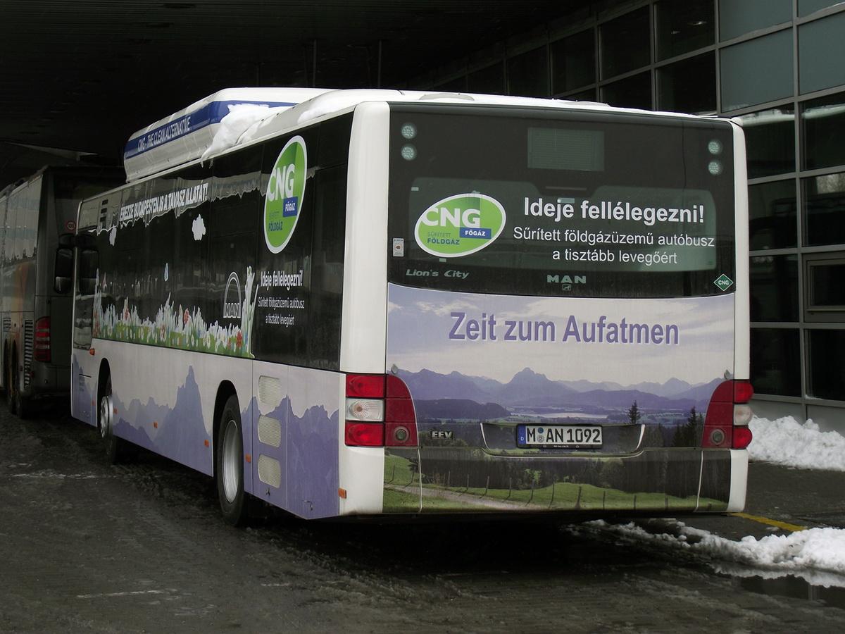 Sűrített földgáz üzemű buszt tesztel a BKV és a Volánbusz