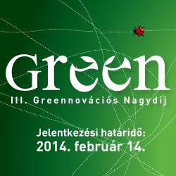 Két hétig lehet még jelentkezni a III. Greennovációs Nagydíjra